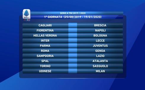 Serie A Tim Calendario.Video Calendario Serie A Tim 2019 2020 Fiorentina Napoli