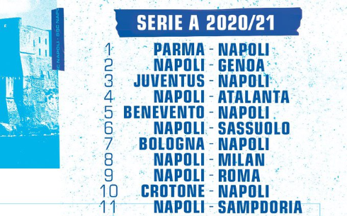 FOTO ZOOM   SSC Napoli, il calendario delle gare per la stagione