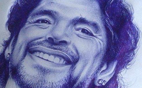 """Nella foto inviata alla Redazione di """"Napoli Magazine"""", ecco un disegno fatto a penna dal tifoso azzurro Francesco Rocco in onore di Diego Armando Maradona. - b7bd3cdf898189b9caedd7c3d205c606-71400"""